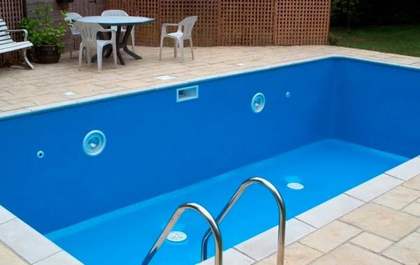 Резиновая краска для покраски бассейна