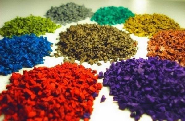Расцветки резиновой крошки фото