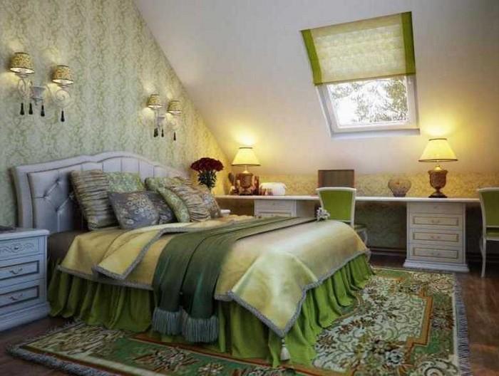 Идеи дизайна мансардной спальни