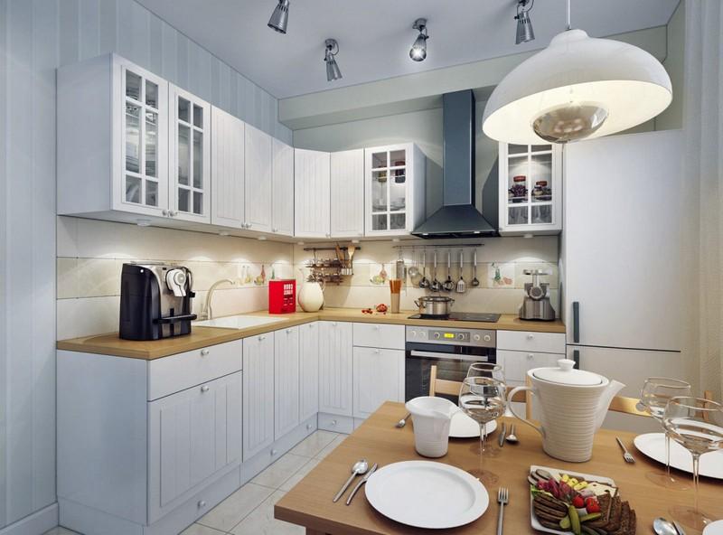 Споты поворотные потолочные на кухню