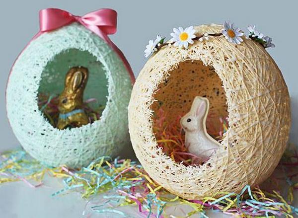 Красивые поделки яиц к Пасхе 2017