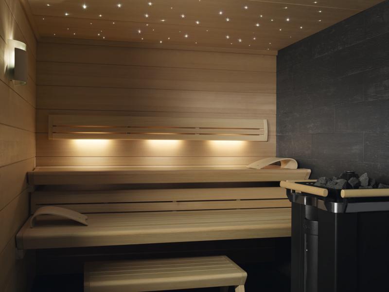 Оптоволоконное освещение для сауны