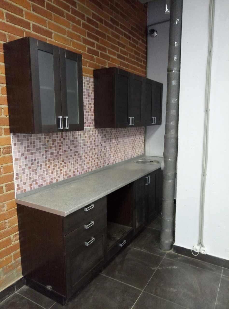 прямая кухня лофт-01 фото