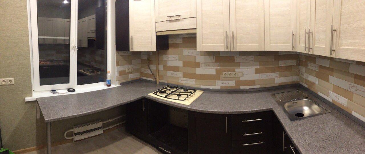 угловая кухня лофт-02 большая фото
