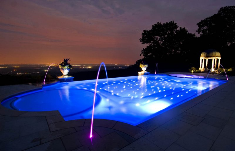 Оптоволоконная подсветка для бассейна