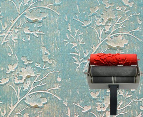 валик с рисунком для стен