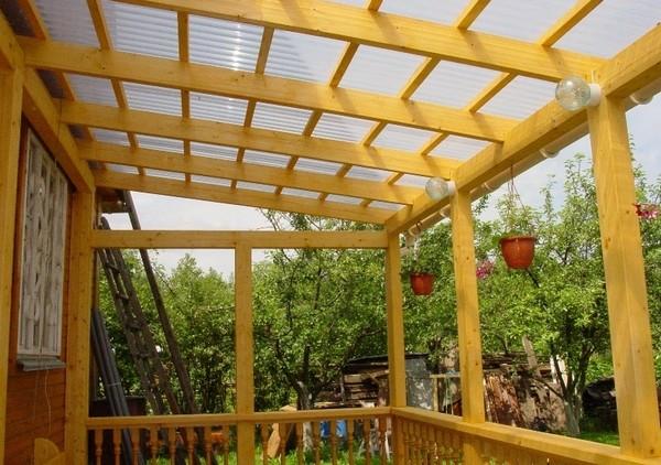 Прозрачный шифер для летней террасы