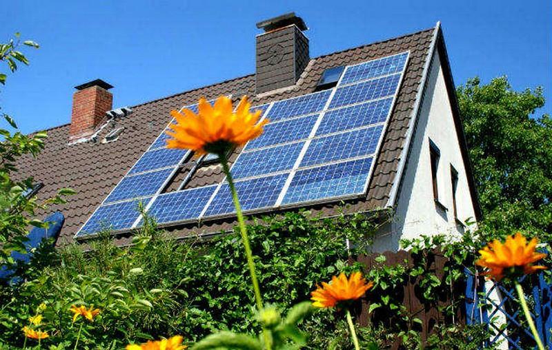 Солнечные батареи для дома на крышу фото