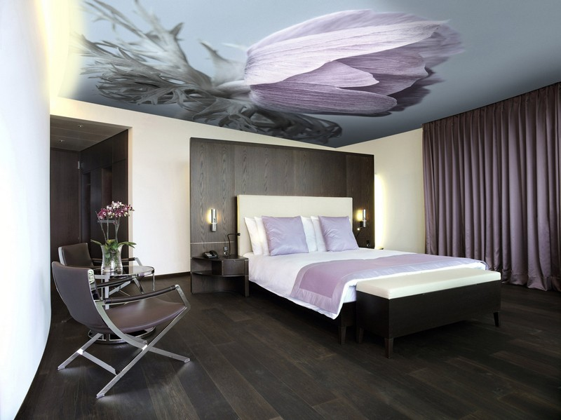 тканевый потолок с аэрографией фото